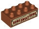 Part No: 3011pb045  Name: Duplo, Brick 2 x 4 with 'HOME SWEET HOME' on Weathered Board Pattern