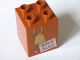 Part No: 31110pb069  Name: Duplo, Brick 2 x 2 x 2 with Bell and 'RNIG ALSO' Pattern