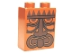 Part No: 4066pb443  Name: Duplo, Brick 1 x 2 x 2 with Tribal Mask Pattern