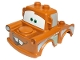 Part No: 88764pb01  Name: Duplo Car Body 2 Top Studs Truck with Cars Tow Mater Red Tongue Pattern