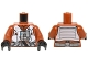 Part No: 973pb2131c01  Name: Torso SW Resistance Pilot Flight Suit with Straps and Black Hose Pattern / Dark Orange Arms / Black Hands