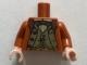 Part No: 973pb3355c01  Name: Torso Harry Potter Suit over Dark Tan Vest and White Shirt with Reddish Brown Bow Tie Pattern / Dark Orange Arms / Light Flesh Hands
