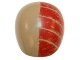 Part No: 21560pb01  Name: Large Figure Armor, Round, Smooth with Red Stripes Weathered Pattern