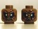 Part No: 3626cpb0871  Name: Minifigure, Head Dual Sided LotR Goblin Light Yellow Eyes, 8 Teeth / 7 Teeth Pattern - Hollow Stud