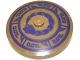 Part No: 3960pb031  Name: Dish 4 x 4 Inverted (Radar) with Dark Bluish Gray and Dark Purple Snake and Geometric Pattern