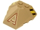Part No: 47757pb07L  Name: Wedge 4 x 4 Pyramid Center with Stripes and Exo-Force Circuitry Left Pattern C (Stickers) - Set 7702/7711