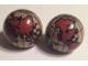 Part No: 61287c01pb03  Name: Cylinder Hemisphere 2 x 2 with Reddish Brown Globe Pattern