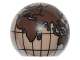 Part No: 61287pb006  Name: Cylinder Hemisphere 2 x 2 with Cutout with Europe, Africa, Asia, Australia Dark Brown Globe Pattern