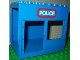 Lot ID: 165955246  Part No: 2210pb01  Name: Duplo Building 6 x 8 x 6 Drive Through with Door and Window Openings with 'POLICE' Pattern
