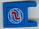 Part No: 2335pb044  Name: Flag 2 x 2 Square with Red Number 2 on Blue Background with White Basketball Pattern (Sticker) - Set 3432