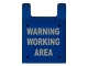 Part No: 2335pb069  Name: Flag 2 x 2 Square with 'WARNING WORKING AREA' Pattern (Sticker) - Set 8191
