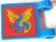 Part No: 2335px9  Name: Flag 2 x 2 Square with Red Square and Yellow / Blue Dragon Pattern