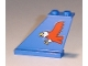 Part No: 2340pb004  Name: Tail 4 x 1 x 3 with Red Eagle Pattern on Left Side (Sticker) - Set 6331