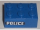 Part No: 3002pb13  Name: Brick 2 x 3 with 'POLICE' Black Line Pattern on Both Sides (Stickers) - Set 8196