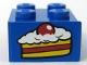 Part No: 3003pb017  Name: Brick 2 x 2 with Cake Slice Pattern (Sticker) - Set 4165