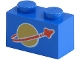 Part No: 3004p90  Name: Brick 1 x 2 with Classic Space Logo Pattern