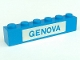 Part No: 3009pb019  Name: Brick 1 x 6 with Blue in White 'GENOVA' Pattern (Set 113)