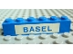 Part No: 3009pb020  Name: Brick 1 x 6 with Blue in White 'BASEL' Pattern (Set 113)