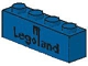 Part No: 3010p30  Name: Brick 1 x 4 with Black Legoland Logo Pattern