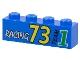 Part No: 3010pb015  Name: Brick 1 x 4 with Racing 73 Pattern
