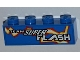 Part No: 3010pb138L  Name: Brick 1 x 4 with 'TEAM SUPER FLASH' and Electric Spark Pattern Model Left (Sticker) - Set 8303