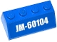 Part No: 3037pb047  Name: Slope 45 2 x 4 with 'JM-60104' Pattern (Sticker) - Set 60104