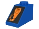 Part No: 3040pb001  Name: Slope 45 2 x 1 with Orange Microphone on Black Pattern