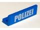 Part No: 30413pb038  Name: Panel 1 x 4 x 1 with White 'POLIZEI' Bold Narrow Font on Blue Background Pattern (Sticker) - Set 7744