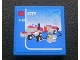 Part No: 3068bpb0319  Name: Tile 2 x 2 with Lego Fire Car and 'CITY' and '5-12' Set Box Pattern (Sticker) - Set 3221