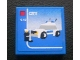 Part No: 3068bpb0320  Name: Tile 2 x 2 with Lego Police Car and 'CITY' and '5-12' Set Box Pattern (Sticker) - Set 3221