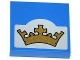 Part No: 3068bpb0789  Name: Tile 2 x 2 with Gold Crown on Light Bluish Gray Background Pattern (Sticker) - Set 70404