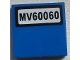 Part No: 3068bpb0839  Name: Tile 2 x 2 with 'MV60060' License Plate Pattern (Sticker) - Set 60060