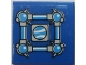Part No: 3068bpb1079  Name: Tile 2 x 2 with Squared Bars and Receptacles and Small Port Window Pattern (Sticker) - Set 70013