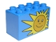 Part No: 31111pb001  Name: Duplo, Brick 2 x 4 x 2 with Sun Pattern