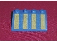 Part No: 3297px2  Name: Slope 33 3 x 4 with Yellow Stripes Pattern