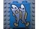 Part No: 4066pb060  Name: Duplo, Brick 1 x 2 x 2 with 2 Fish Pattern