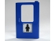 Part No: 4182pb008  Name: Door 1 x 4 x 5 Train Right with Minifig Silhouette Pattern (Sticker) - Set 7905