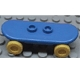 Part No: 42511c02  Name: Minifigure, Utensil Skateboard with Trolley Wheel Holders and Yellow Trolley Wheels (42511 / 2496)