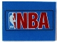 Part No: 4515pb016  Name: Slope 10 6 x 8 with NBA Red Pattern (Sticker) - Set 3432