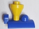 Part No: 4570c02  Name: Duplo, Train Steam Engine Funnel Top, Yellow Top