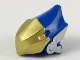 Part No: 46194pb01  Name: Minifigure, Headgear Helmet with High Point at Back, Gold Beak Visor, Silver Ears Pattern