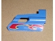 Part No: 47713pb02  Name: Technic, Panel Fairing #25 Small Short, Small Hole, Side A with Flame Pattern (Sticker) - Set 8646