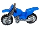 Part No: 50860c05  Name: Motorcycle Dirt Bike, Complete Assembly with Flat Silver Chassis and Light Bluish Gray Wheels