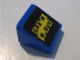Part No: 54200pb032  Name: Slope 30 1 x 1 x 2/3 with 'GXR BOX' on Black Background Pattern (Sticker) - Set 8495