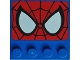 Part No: 6179pb096  Name: Tile, Modified 4 x 4 with Studs on Edge with Spider-Man Eyes Pattern (10687)