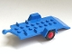 Part No: 817c01  Name: Vehicle, Trailer Base 4 x 8 Bed with Red Wheels and Tires