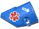 Part No: 87080pb008  Name: Technic, Panel Fairing # 1 Small Smooth Short, Side A with EMT Star of Life and White Arrow with 'DANGER' Pattern (Sticker) - Set 42020