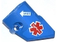 Part No: 87086pb008  Name: Technic, Panel Fairing # 2 Small Smooth Short, Side B with EMT Star of Life and White Arrow with 'DANGER' Pattern (Sticker) - Set 42020