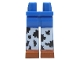 Part No: 970clg00pb02  Name: Hips and Long Legs with Black and White Chaps Pattern (Jessie)