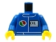 Part No: 973pb0106c01  Name: Torso Octan Logo and OIL Pattern / Blue Arms / Yellow Hands